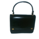 Bolso de mano piel negra Box. Black leather handbag Box