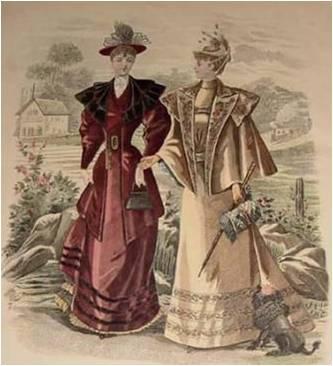 bolsos mediados de Damas la siglo XIX del portando mano en OvYRqw