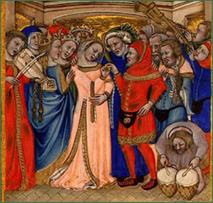 El bolso en la baja y alta Edad Media